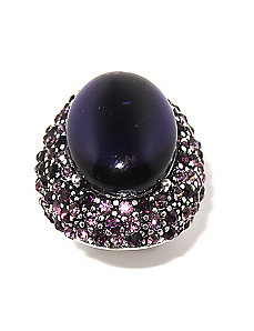 Purple Crystal Stretch Ring by PalmBeach Jewelry