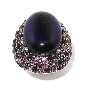 Purple Crystal Stretch Ring