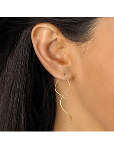 Free-Form Spiral Pierced Earrings by PalmBeach Jewelry