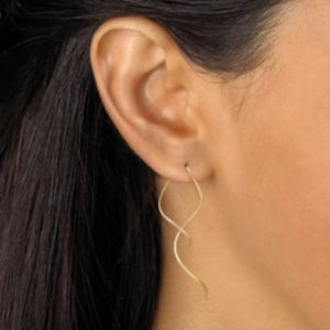 Free-Form Spiral Pierced Earrings