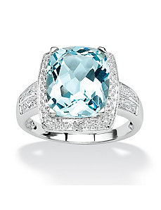 Blue Topaz and Diamond Accent Ring by PalmBeach Jewelry