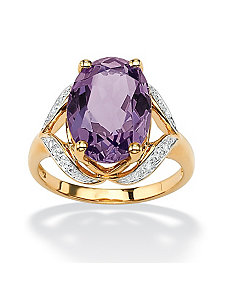 Amethyst and Diamond Accent Ring by PalmBeach Jewelry