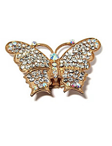 Crystal Butterfly Ring by PalmBeach Jewelry