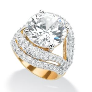 Cubic Zirconia Split-Shank Ring