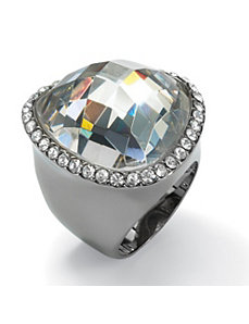 Cubic Zirconia/Crystal Ring by PalmBeach Jewelry