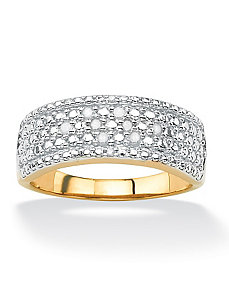 Multi-Row Diamond Pave Ring by PalmBeach Jewelry