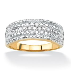 Multi-Row Diamond Pave Ring