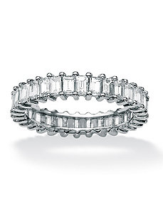 Baguette Cubic Zirconia Eterity Band by PalmBeach Jewelry