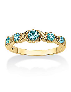 "Birthstone""X & O""Stack Ring by PalmBeach Jewelry"