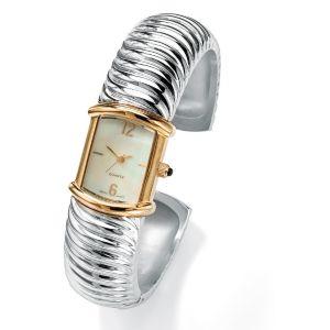 Ribbed Cuff Watch