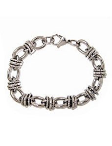 Oval and Round-Link Bracelet by PalmBeach Jewelry