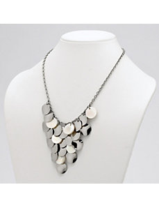 Multi-Disk Bib Necklace by PalmBeach Jewelry