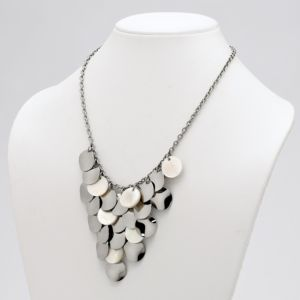Multi-Disk Bib Necklace