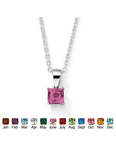Princess-Cut Birthstone Pendant by PalmBeach Jewelry