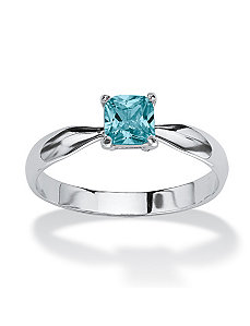 Princess-Cut Birthstone Ring by PalmBeach Jewelry