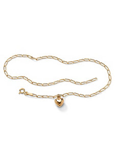Heart Charm Ankle Bracelet by PalmBeach Jewelry