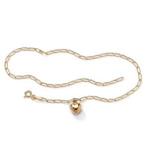 Heart Charm Ankle Bracelet