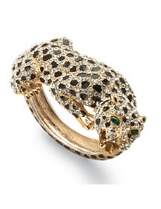 Crystal Leopard Bangle Bracelet by PalmBeach Jewelry