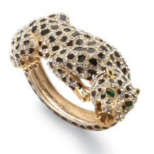Crystal Leopard Bangle Bracelet