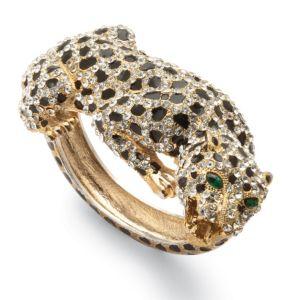 Crystal Leopard Bangle Bracelet