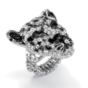 Crystal Leopard Stretch Ring