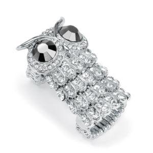 Crystal Owl Stretch Ring