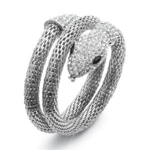 Crystal Coiled Snake Mesh Bracelet