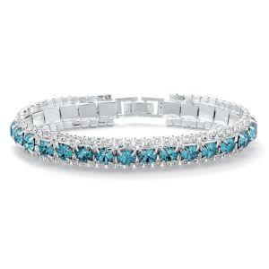 Round Birthstone Tennis Bracelet