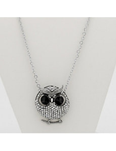 Crystal Owl Pendant and Chain by PalmBeach Jewelry