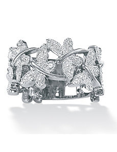 Diamond Accent Butterfly Band by PalmBeach Jewelry