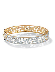 Diamond Accent Vine Bangle Bracelet by PalmBeach Jewelry