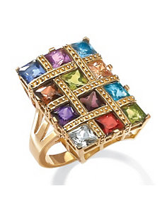 Multi-Colored Cubic Zirconia Ring by PalmBeach Jewelry