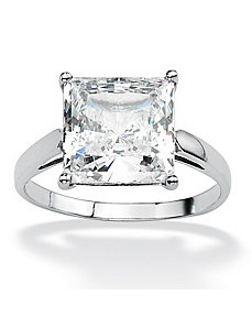 Princess-Cut Cubic Zirconia Ring by PalmBeach Jewelry