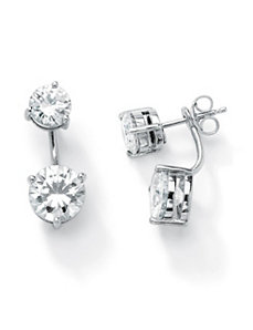 Cubic Zirconia 2-in-1 Earrings by PalmBeach Jewelry