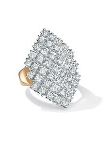 Cubic Zirconia Marquise-Shaped Ring by PalmBeach Jewelry