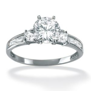 Multi-Shaped Cubic Zirconia Ring