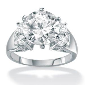 Round Cubic Zirconia Ring