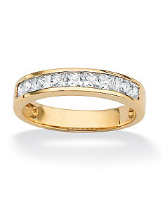 Princess-Cut Cubic Zirconia Anniversary Band by PalmBeach Jewelry