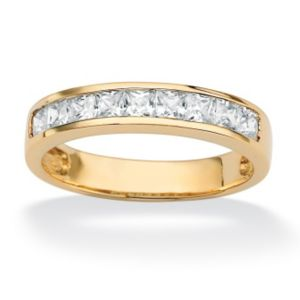 Princess-Cut Cubic Zirconia Anniversary Band