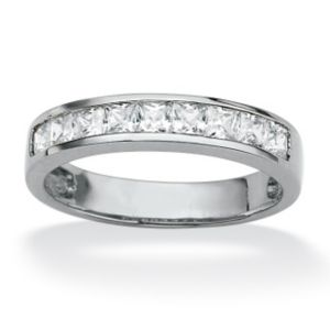 Princess-Cut Cubic Zirconia Anniversary Ring