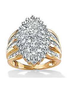 Diamond Marquise-Shaped Ring by PalmBeach Jewelry