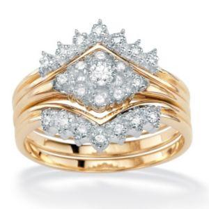 Three-Piece Diamond Wedding Set