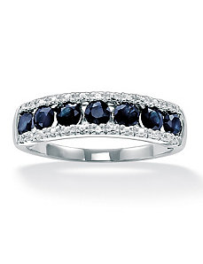 Sapphire & Diamond Accent Ring by PalmBeach Jewelry