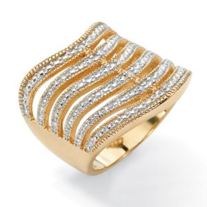 Six-Row Diamond Accent Ring