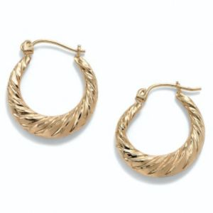 Shrimp-Style Hoop Pierced Earrings