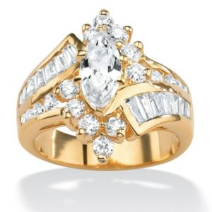 Multi-Cut Cubic Zirconia Ring