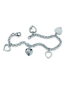Multi-Heart Diamond Accent Bracelet by PalmBeach Jewelry