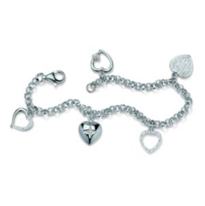 Multi-Heart Diamond Accent Bracelet