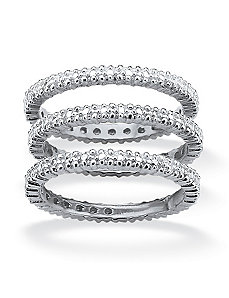 Diamond Accent Eternity Band Set by PalmBeach Jewelry