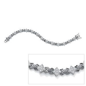 """Diamond""""X & O""""Bracelet"""